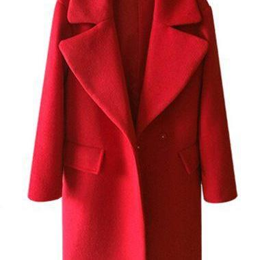 Women Woolen Winter Coat (2 Colors)
