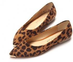 Fashion Ladies Brown Leopard Shoes