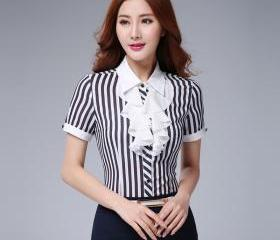 Women Stripe Patchwo..