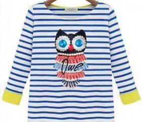 Cute Owl Print Strip..