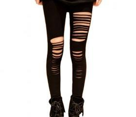 Free shipping Women Sexy Punk Stripes Style Leggings