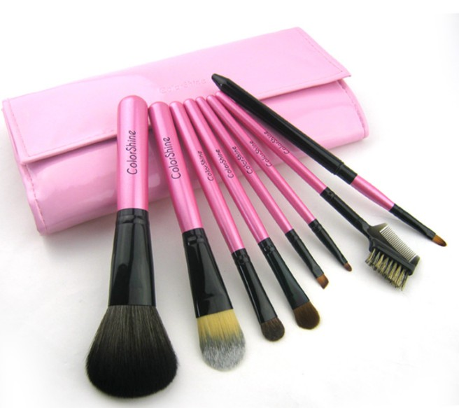 High Quality 8pcs animal clip-on cosmetic Pink Makeup brushes set