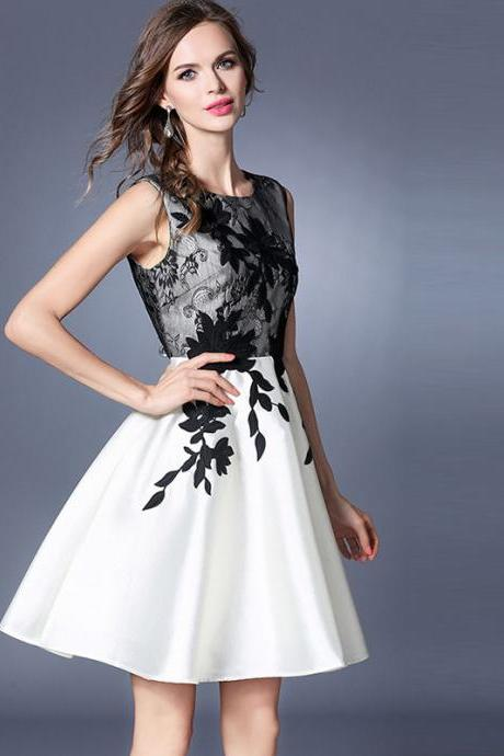 High Quality New Design Gorgeous Embroidered Lace Dress