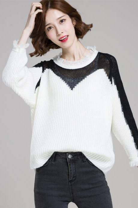 Retro Tassels Loose Pullover Sweater