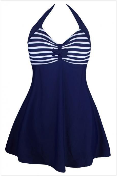 High Waist Bowknot Embellished One Piece Swimwear