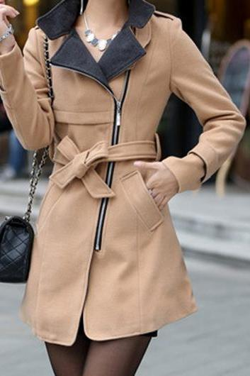 High Quality Pocket Design Long Sleeve Coats (4 Colors)