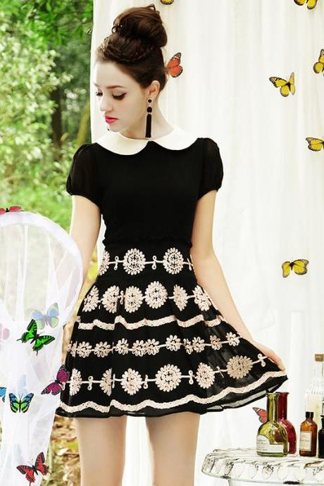 High Quality Fashion New Chiffon Floral Dress