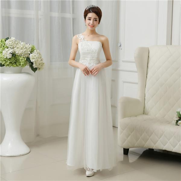 Cute And Beautiful Strapless Dress - White