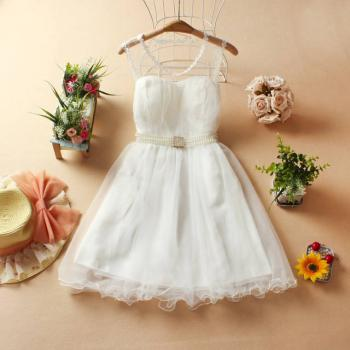 Fashon and Sweet Princess dress - White