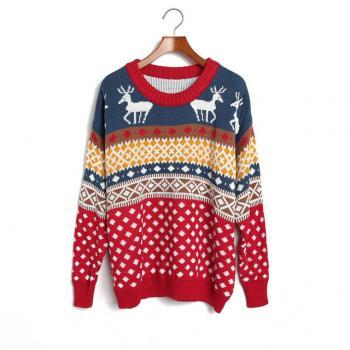 Cute Fashion style Loose Women Knitting Sweater - Red