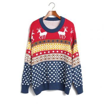 Cute Fashion style Loose Women Knitting Sweater - Blue