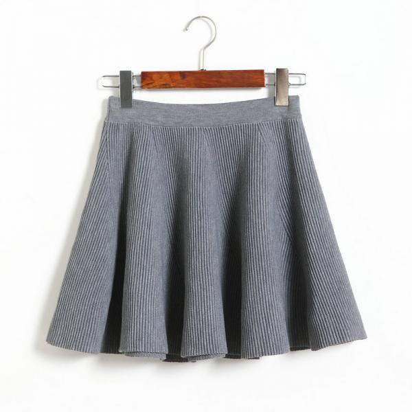 Women Spring Casual Sexy Mini Knit Skirt