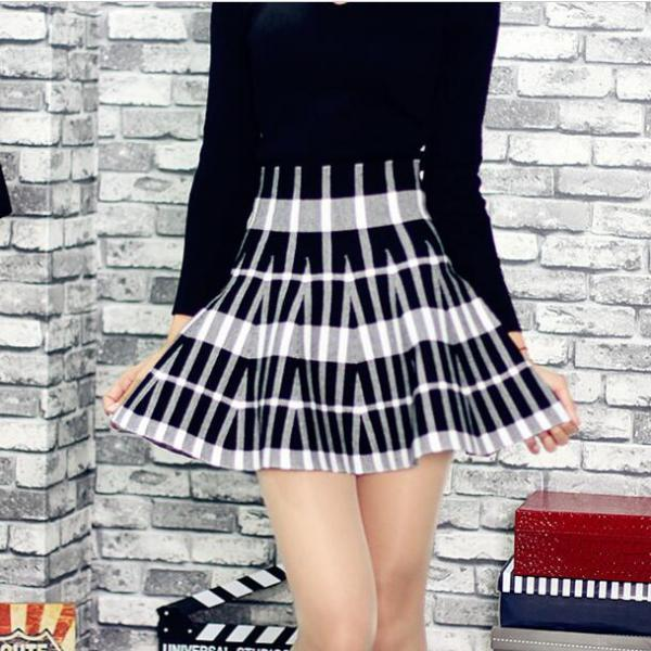 New Design Fashion A-line Mini knitting Skirt