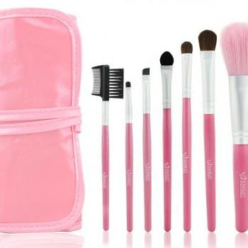 Good Pink 7pcs/set Natural Makeup Brush Cosmetic Brushes Set Kit For Daily Beauty